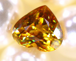 Sphene 1.45Ct Natural Rainbow Flash Chartreuse Green Sphene DR586/A51