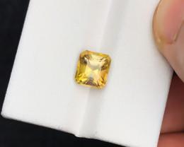 1.95 Ct Natural Yellowish Golden Tourmaline Transparent Gemstone