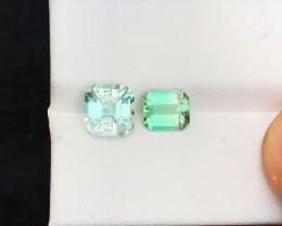 3.10 Ct Natural  Bi Color Tourmaline Transparent Gemstones Parcels