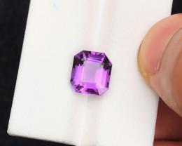 3.55 Ct Natural Purple Transparent Amethyst Gemstone