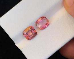 2.55 Ct Natural Pink Transparent Tourmaline Gemstones Parcels