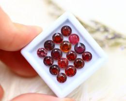 Spinel 8.50Ct 16Pcs Natural Burmese Mogok Reddish Pink Spinel ER526/B51