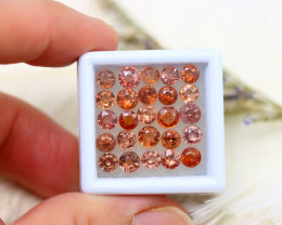 Spinel 8.30Ct 25Pcs Mogok Spinel Natural Burmese Orange Spinel ER528/B51