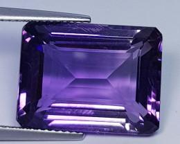 17.20 ct  Top Quality Gem  Octagon Cut Natural Purple Amethyst