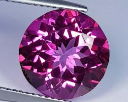 8.08 ct Top Quality Gem Round Cut Natural Pink Topaz