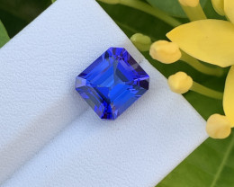 4.51 Cts Gorgeous Natural AAA+Violet Blue Tanzanite