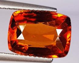 5.58 ct  AAA Grade Gem Cushion Cut Natural Hessonite Garnet