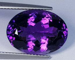 11.43 ct  Top Quality Gem Oval Cut Natural Purple Amethyst