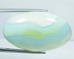 51.64 ct Natural Blue Lace Agate Oval Cabochon  Gemstone