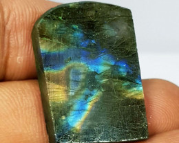 31.22 ct Natural Labradorite Slice Fancy Cut  Gemstone