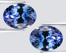 1.58Cts Classic Natural Blue Color Tanzanite Oval Matching Pair video
