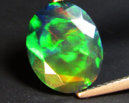 1.90Cts Natural Earth Mined Color Play Black Opal Oval Cut Loose Gem REF VO