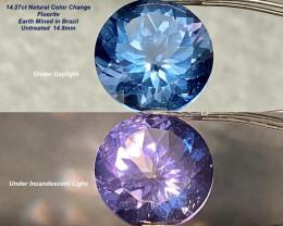 14.27ct Color Change Fluorite - Brazil/ 14.8mm