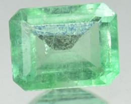 0.30 Cts Natural Emerald Vivid Green Octagon Cut Colombia