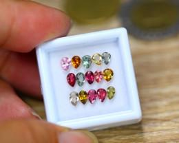 2.42ct Natural Fancy Color Tourmaline Pear Cut Lot GW9269