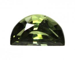 0.22cts Natural Australian Green Sapphire Half Moon  Shape