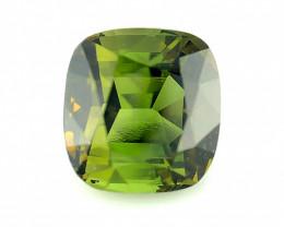 3.15(ct) Seductive Green Color Congo Tourmaline Faceted Gem