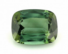 3.335(ct)Forest Green Color Congo Tourmaline Faceted Gem