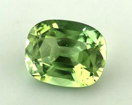 2.660(ct) Gorgeous Apple Green Color Congo Tourmaline Faceted Gem