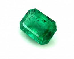 0.880(ct)Magnificent Color Emerald No Oil Gemstone