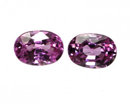 0.35cts Natural Sri Lankan Pink Sapphire Matching Oval  Shapes