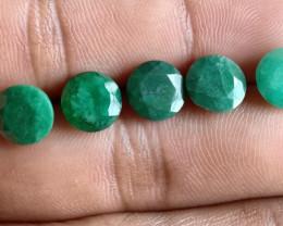 5Pcs Emerald Wholesale Lot Natural Faceted Gemstone VA1262