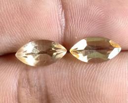 6x12mm Citrine Pair Natural Marquise Faceted Gemstone VA1274
