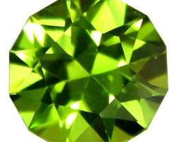 2.82Cts Genuine Excellent Natural Peridot 9mmRound precision Cut REF VIDEO