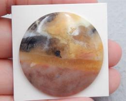P0632 - 55Cts Natural Amazonite Gemstone Round Cabochon