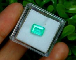 Muzo 1.60Ct Natural Colombian Vivid Green Color Muzo Emerald C1906