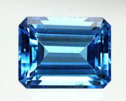 2.99cts Natural Swiss Blue Topaz Emerald Cut