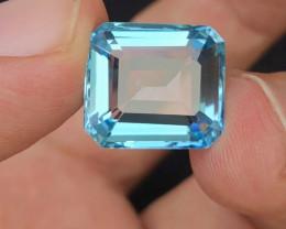Perfect cut  Cut 15.80 Ct Natural  Blue Topaz gemstone