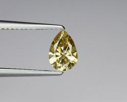 Certificate 0.77 Carat Natural Diamond natural fancy greenish yellow