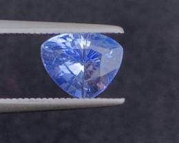 Certificate 2.12 Carats Natural Sapphire blue color Gemstones
