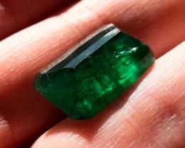 16.40 ct - Polished Natural Brazilian emerald – ( Emerald Cut)