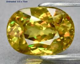 2.86ct  Sphene - Madagascar / Untreated / 9.5x7mm