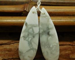 Gemstone howlite earring pairs (G2894)