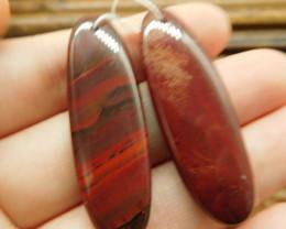 Rainbow jasper earring pairs (G2895)