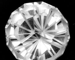 3.97 Cts Glamorous Natural White Topaz Round Magic Cut Gem Ref VIDEO