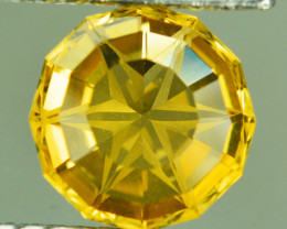 3.58 Cts Excellent Facet Natural Citrine Round Master Cut Collection Gem Re
