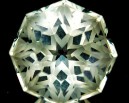 3.70 Cts Amazing Natural Prasiolite Amethyst Fancy Star Custom Cut REF VIDE