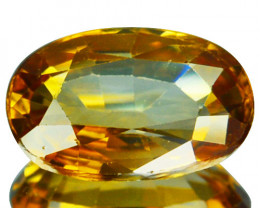 2.54 Cts Natural Sparkling Brown Zircon Oval Cut Tanzania