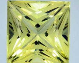 2.87 Cts Supreme Natural Lemon Quartz Princess Custom Cut Collectible REF V