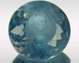 2.23 Cts Rare Colour Natural Blue Apatite Round Brazil