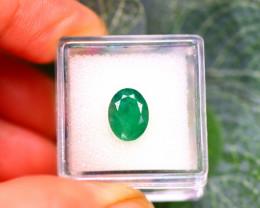 Emerald 2.75Ct Natural Zambia Green Emerald E2315/A38