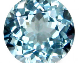 1.99Cts Genuine Natural Blue Color Unheated Aquamarine Round Shape Loose Ge