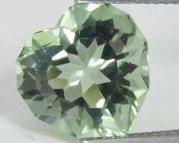 4.73Cts Stunning Natural Green Amethyst (prasiolite) Heart Shape Custom Cut