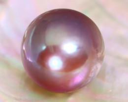 13.5mm 16.89Ct Natural Tahitian Golden Black Pearl B2014