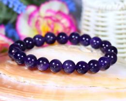 10.0mm 146.00Ct Natural Amethyst Beads Bracelet ST657