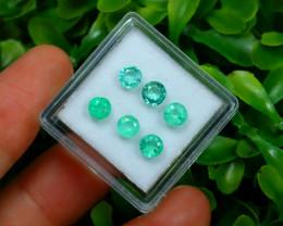 Muzo 1.92Ct 6Pcs Natural Colombian Green Color Muzo Emerald ST704